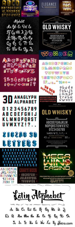 Alphabet Vector Font 9