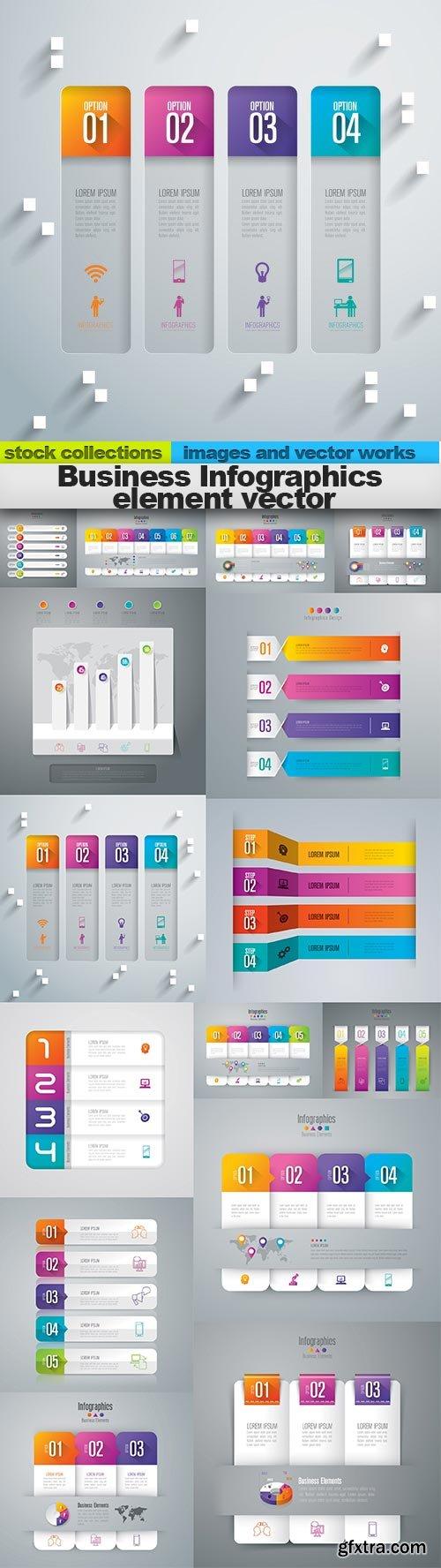 Business Infographics element vector, 15 x EPS