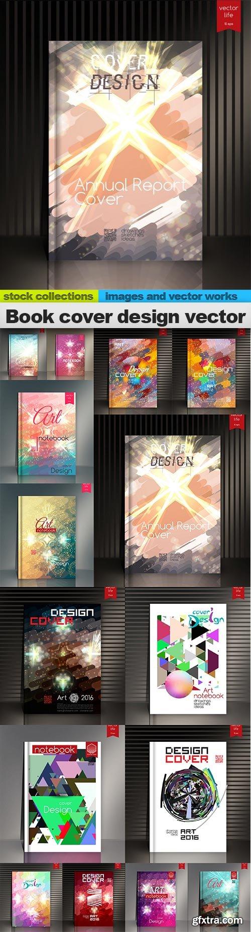 Book cover design vector, 15 x EPS