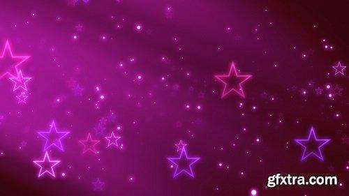 Stars on the purple