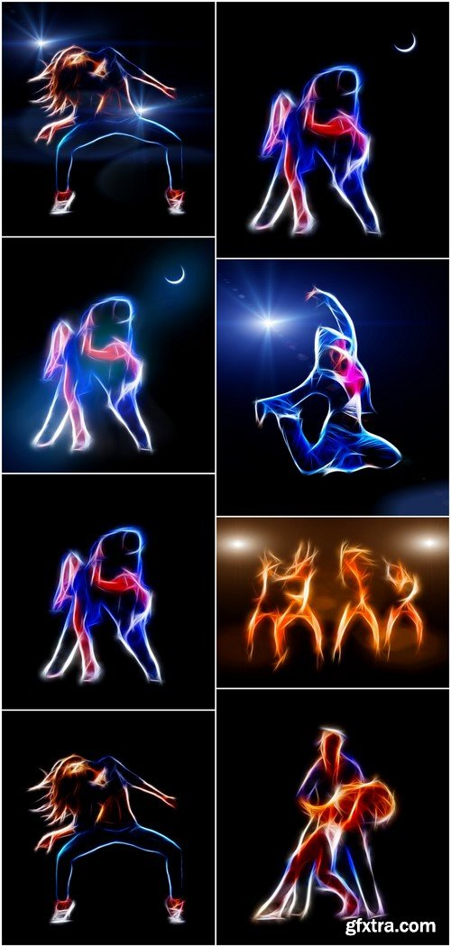 Passionate couple dancing in the moonlight 8X JPEG