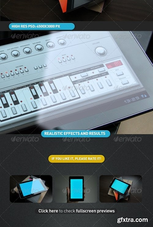 GraphicRiver - Black Tablet Android GUI App Mock-Up 4630361