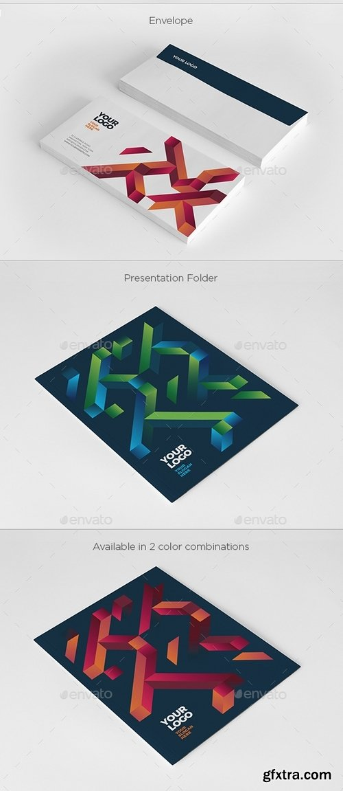 GraphicRiver - Cool Modern Colorful Stationery 19463181