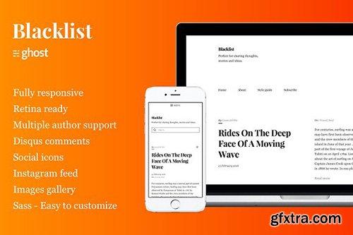 Blacklist v1.0.0 - Responsive & Minimal Ghost Theme - CM 747361