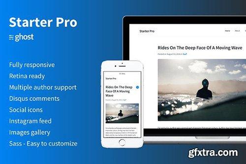 Starter Pro v1.0.0 - Minimal Ghost Theme - CM 1196047