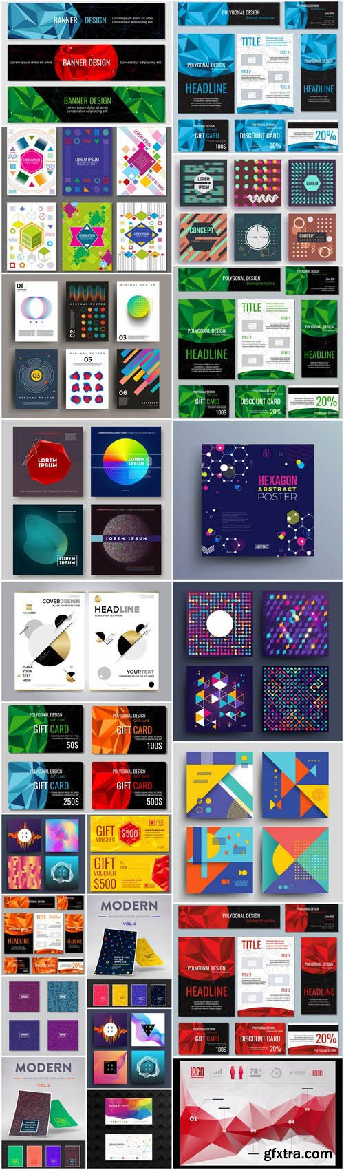 Abstract Geomeric Template Design - 25 Vector