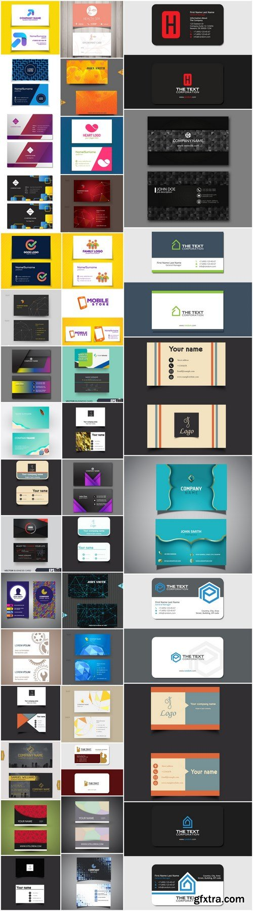 Business Card Template - 40 Vector