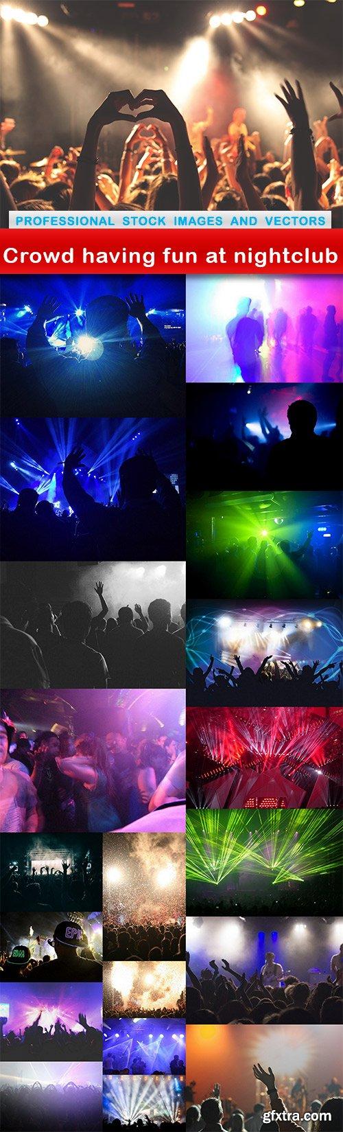 Crowd having fun at nightclub - 21 UHQ JPEG
