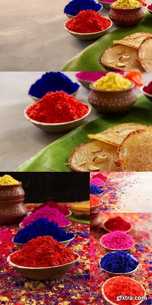 Holi, celebration of colors.An Indian festival