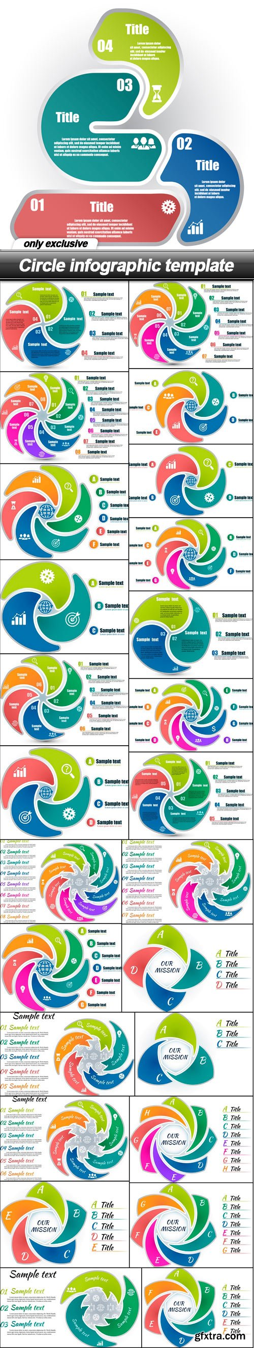 Circle infographic template - 26 EPS