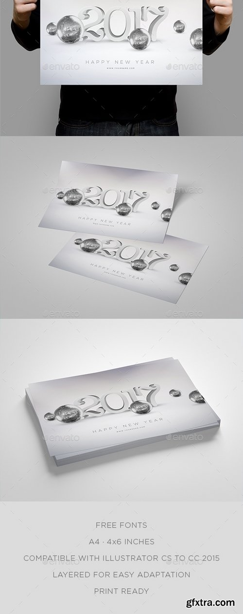 GraphicRiver - New Year 2017 Party Flyer 18292149