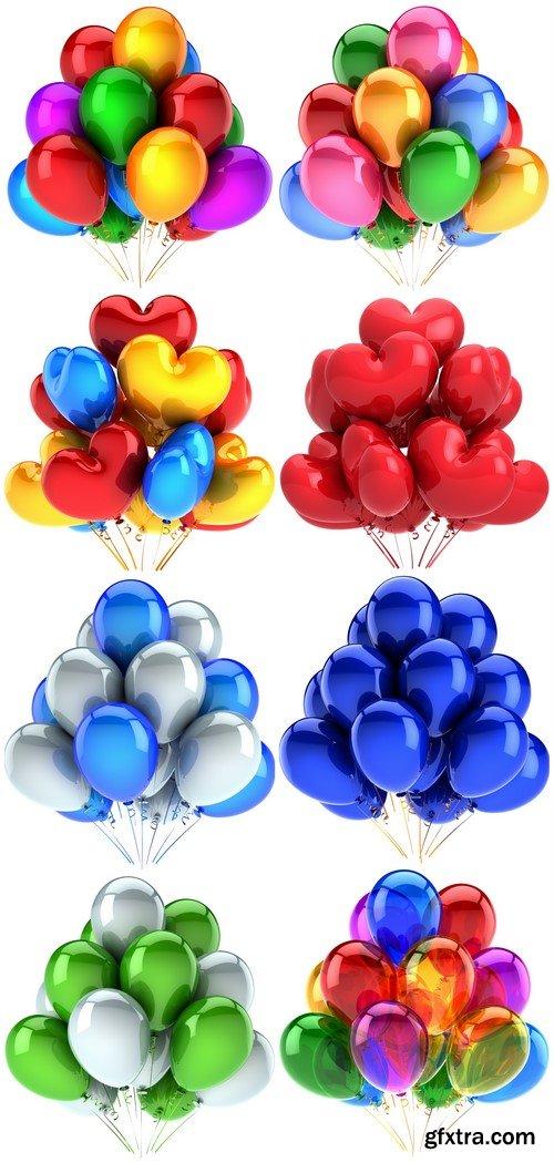 Colored balloons 8X JPEG