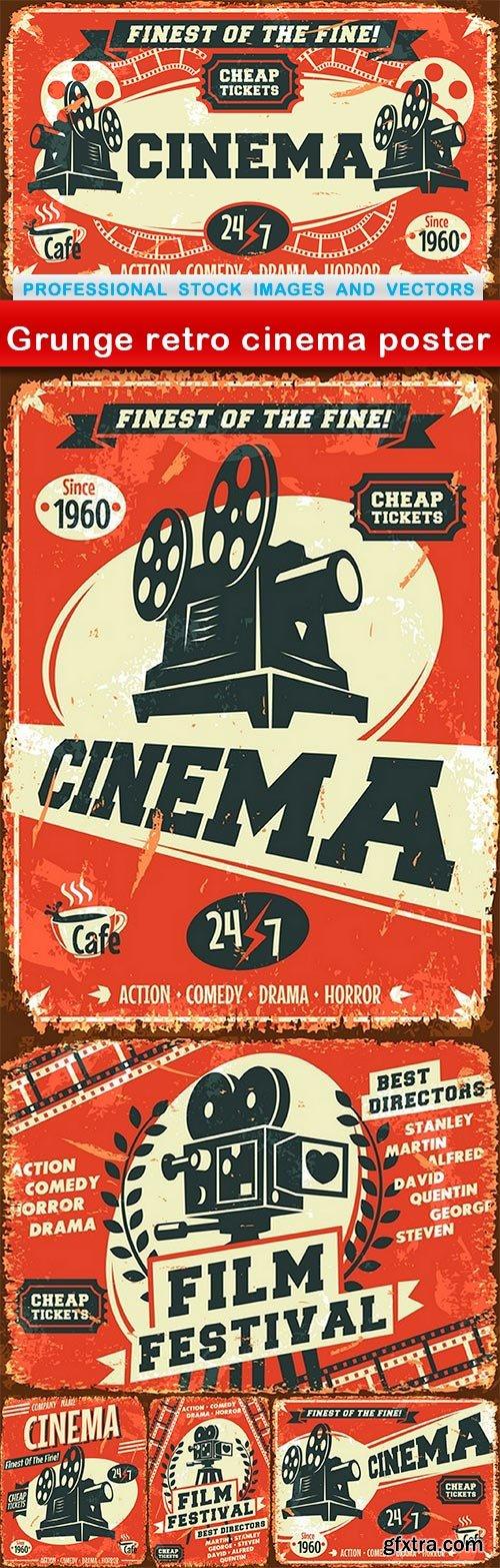 Grunge retro cinema poster - 6 EPS