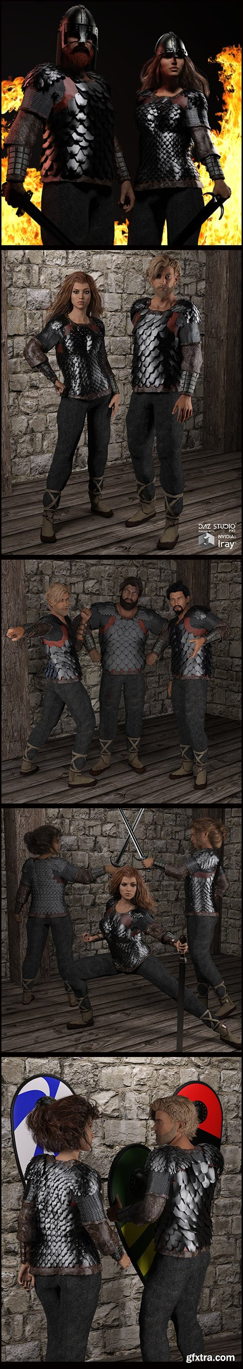 Renderosity - Dark Age Scale Armor DAZ3D