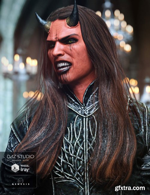 DAZ3D - Wezor Hair for Genesis 3 Male(s) 37035