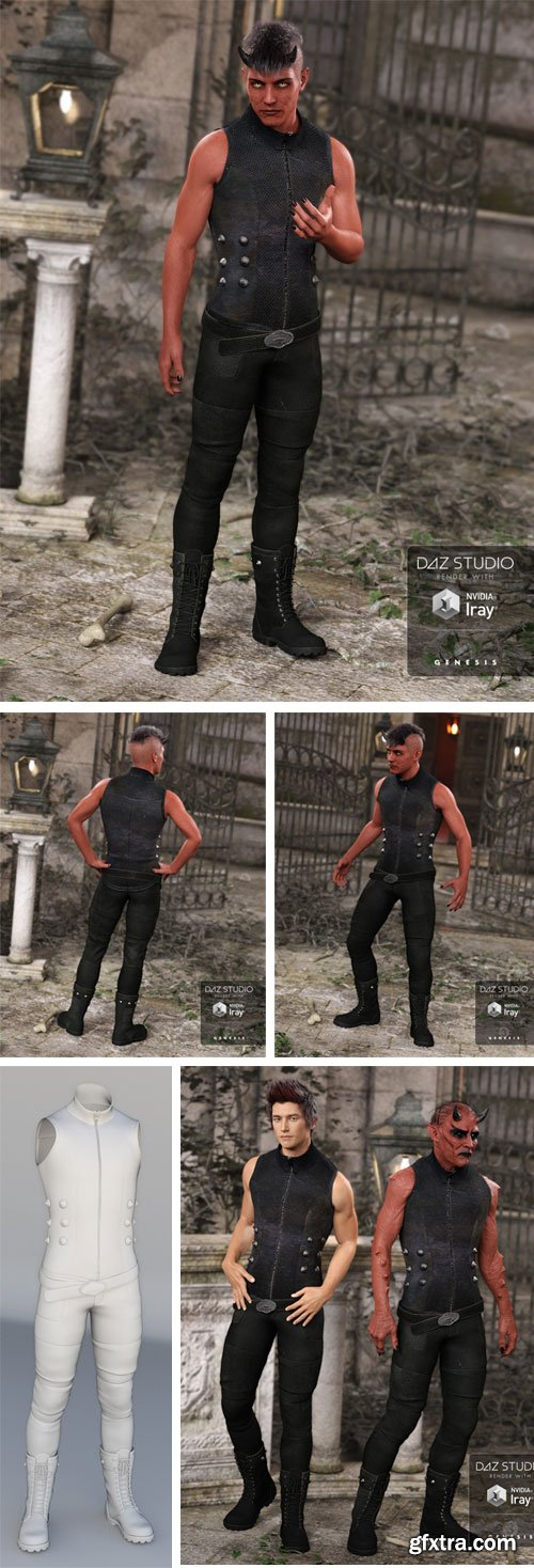 DAZ3D - Bad Boy Outfit for Genesis 3 Male(s) 36865