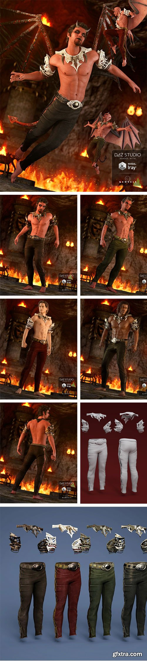 DAZ3D - Daemon Outfit for Genesis 3 Male(s) 37055