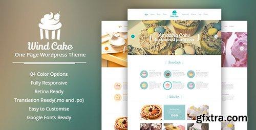 ThemeForest - WindCake v1.6 - OnePage WordPress Theme - 6323383
