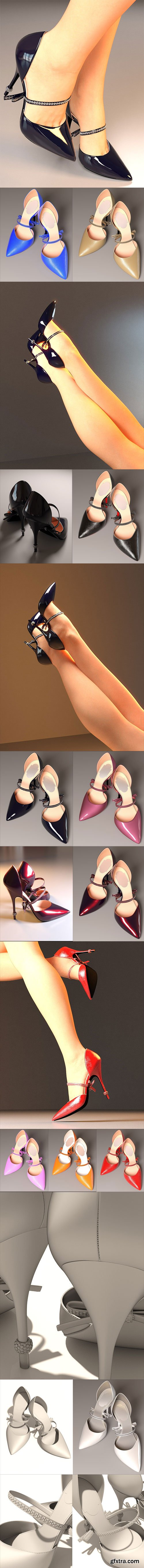 DAZ3D - Stiletto Heels for Genesis 3 Female(s) 35559