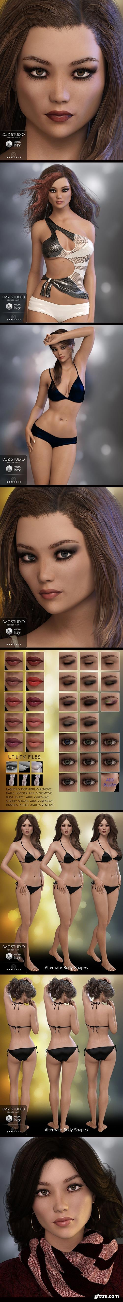 DAZ3D - Lorilynn for Genesis 3 Female 23349