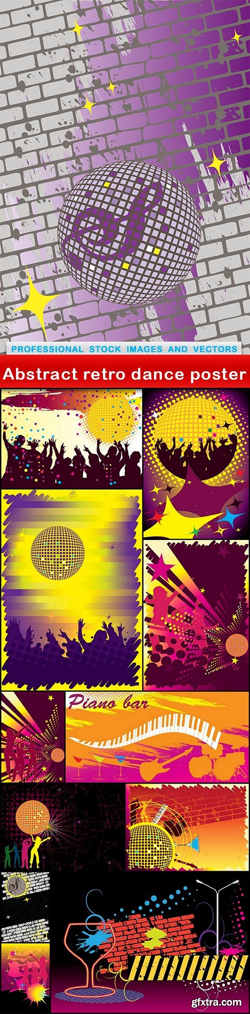 Abstract retro dance poster - 12 EPS