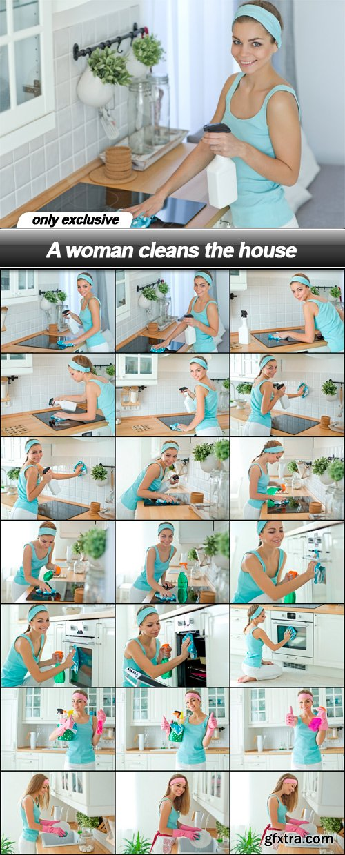 A woman cleans the house - 21 UHQ JPEG