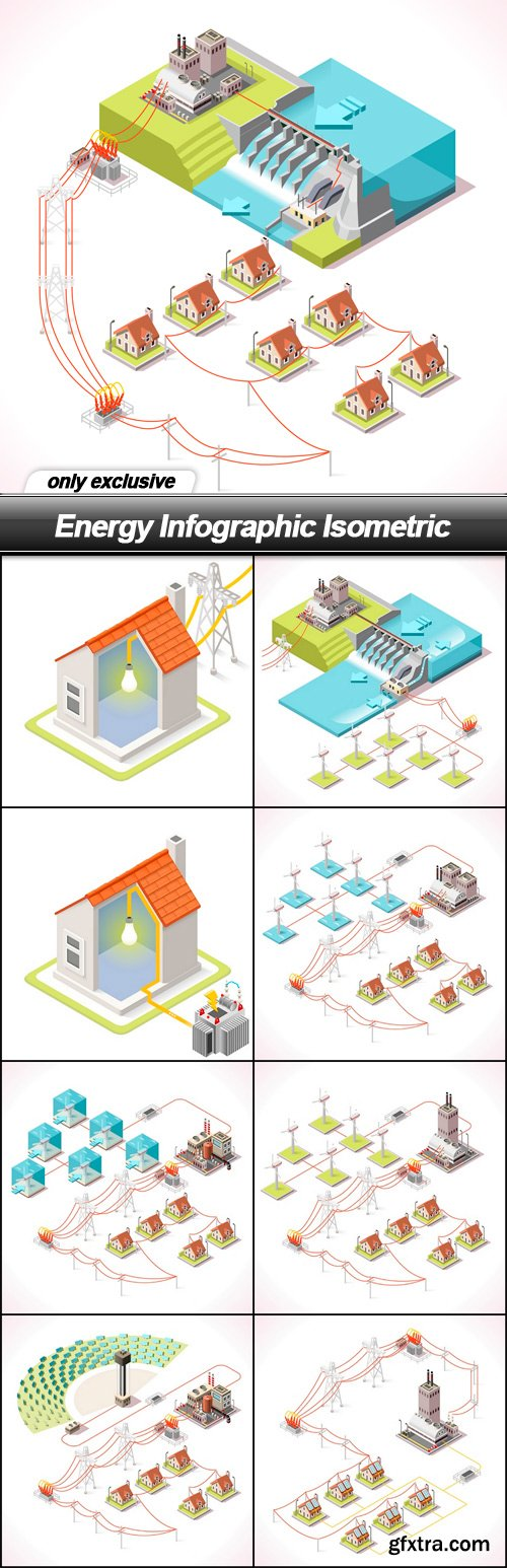 Energy Infographic Isometric - 9 EPS