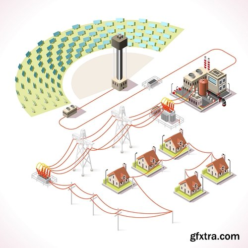 Energy Infographic Isometric - 9 EPS