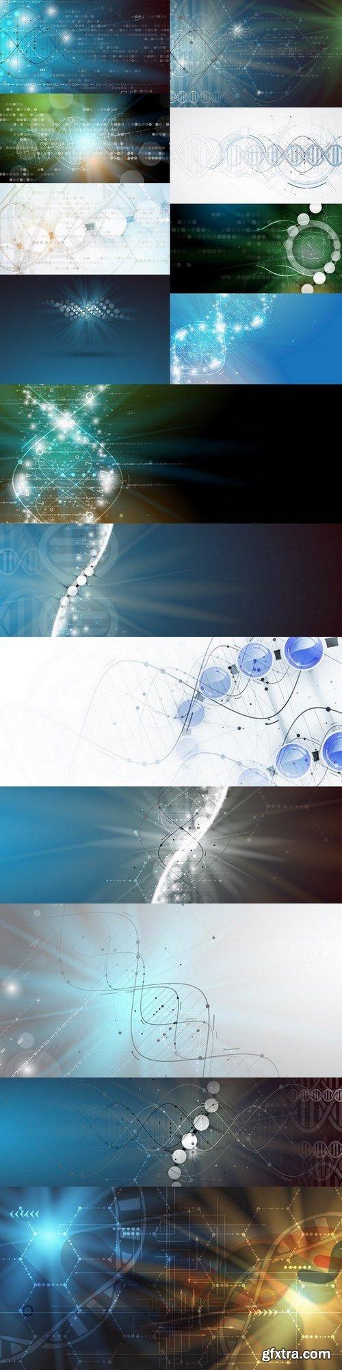 DNA - 15 EPS Vector Stock