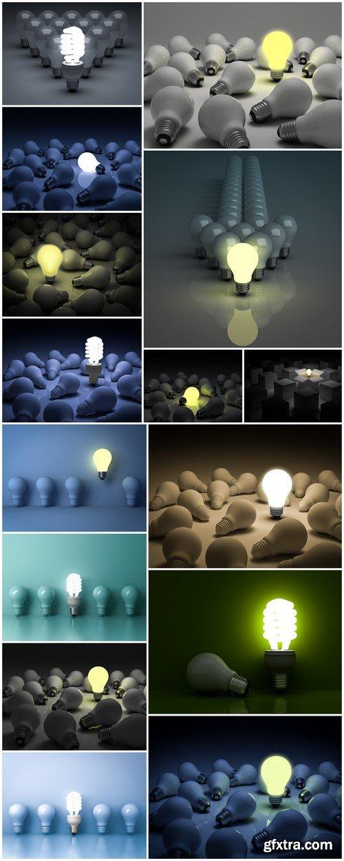 Energy saving light bulb 3D rendering 15X JPEG