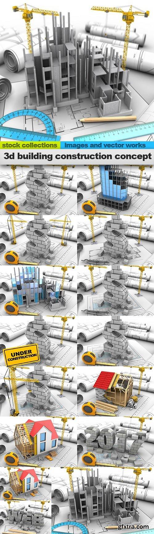 3d building construction concept, 15 x UHQ JPEG