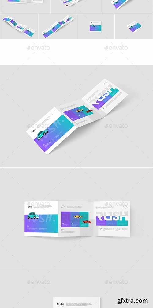 GraphicRiver - Square Trifold Brochure Mockups Z-Fold 15914766