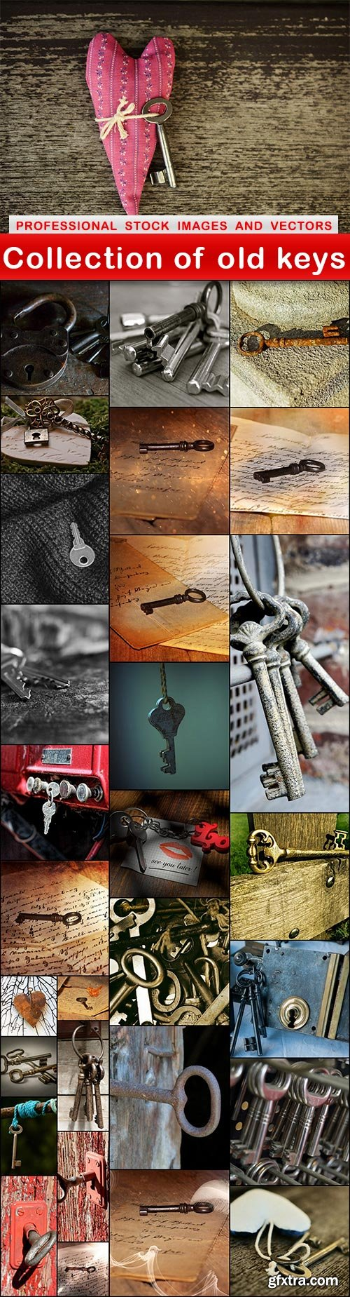 Collection of old keys - 30 UHQ JPEG