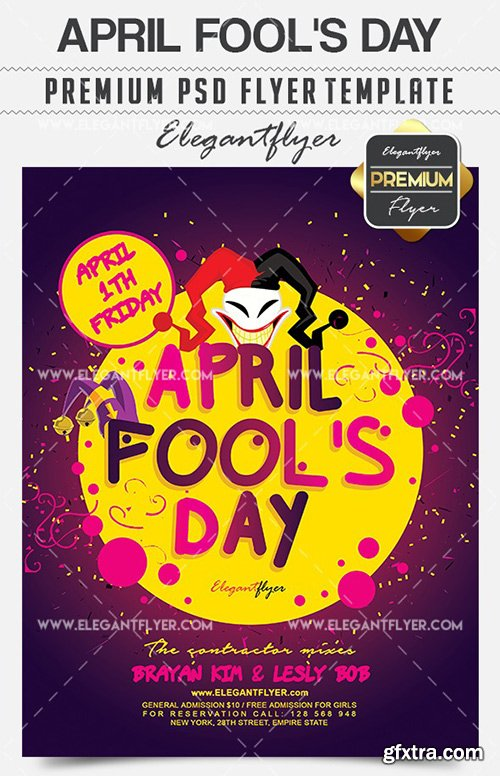 April Fool's Day – Flyer PSD Template + Facebook Cover