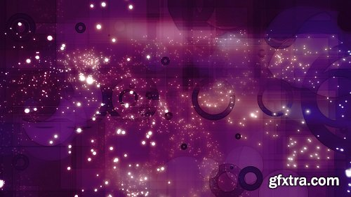Swirling orbs and particles