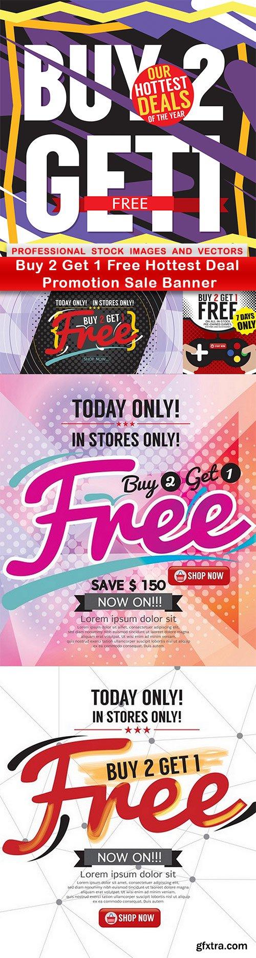 Buy 2 Get 1 Free Hottest Deal Promotion Sale Banner - 5 EPS