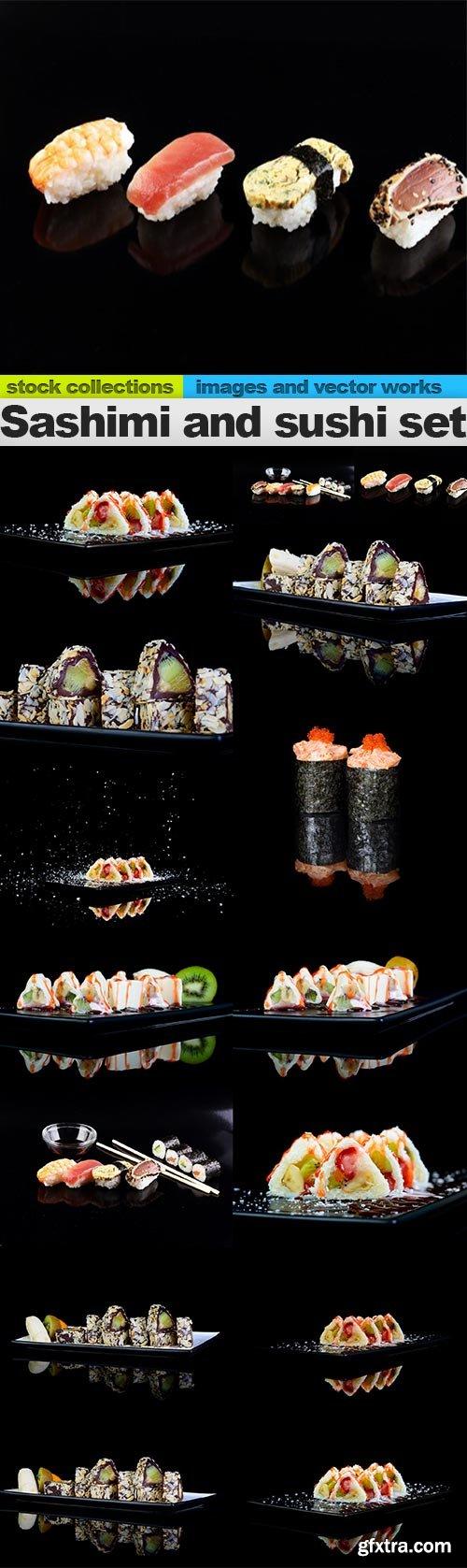 Sashimi and sushi set, 15 x UHQ JPEG