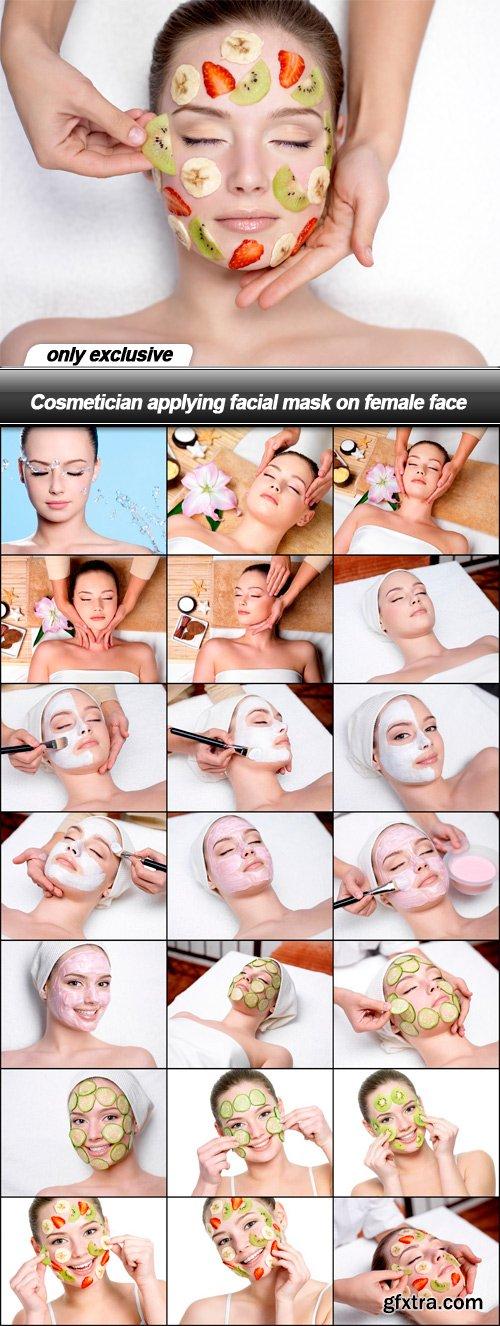 Cosmetician applying facial mask on female face - 22 UHQ JPEG