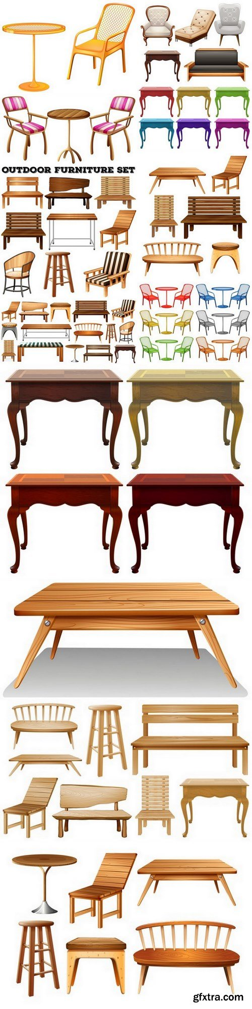 Furniture - 12 EPS Vector Stock
