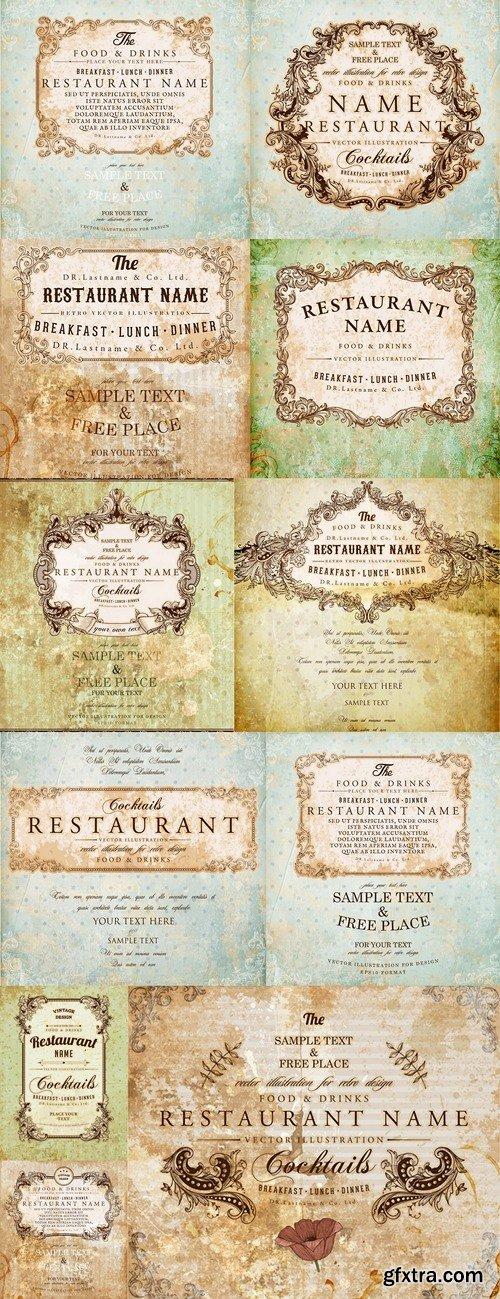 Element cafe restaurant symbol premium vector