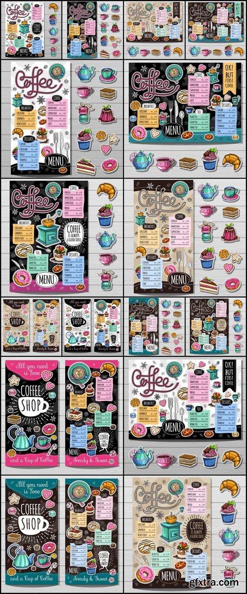 Coffee shop menu 16X EPS