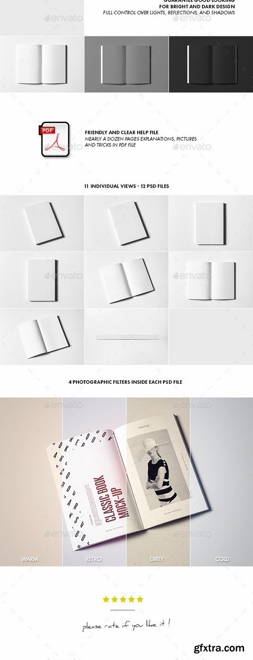 GraphicRiver - Classic Book Mock-up 10932311