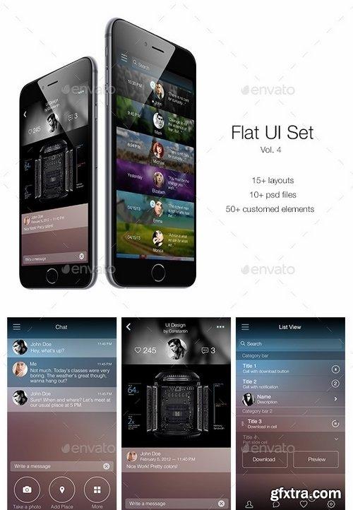 GraphicRiver - Flat UI Set Vol 4 6208464