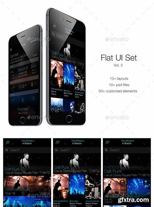 GraphicRiver - Flat UI Set Vol 5 6333053