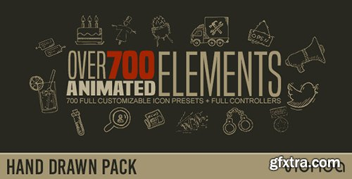 Videohive Hand Drawn Elements Pack 17449750
