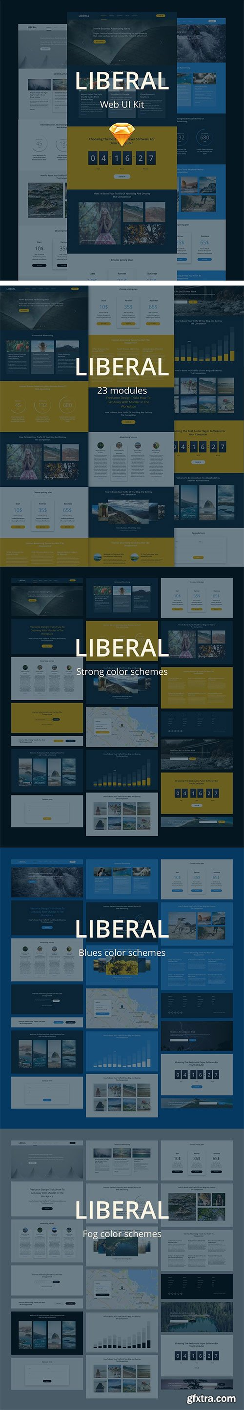 CreativeMarket - Liberal UI Kit 1274590