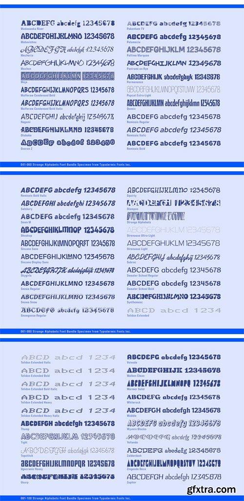 CM 1277360 - Strange Alphabets Font Bundle