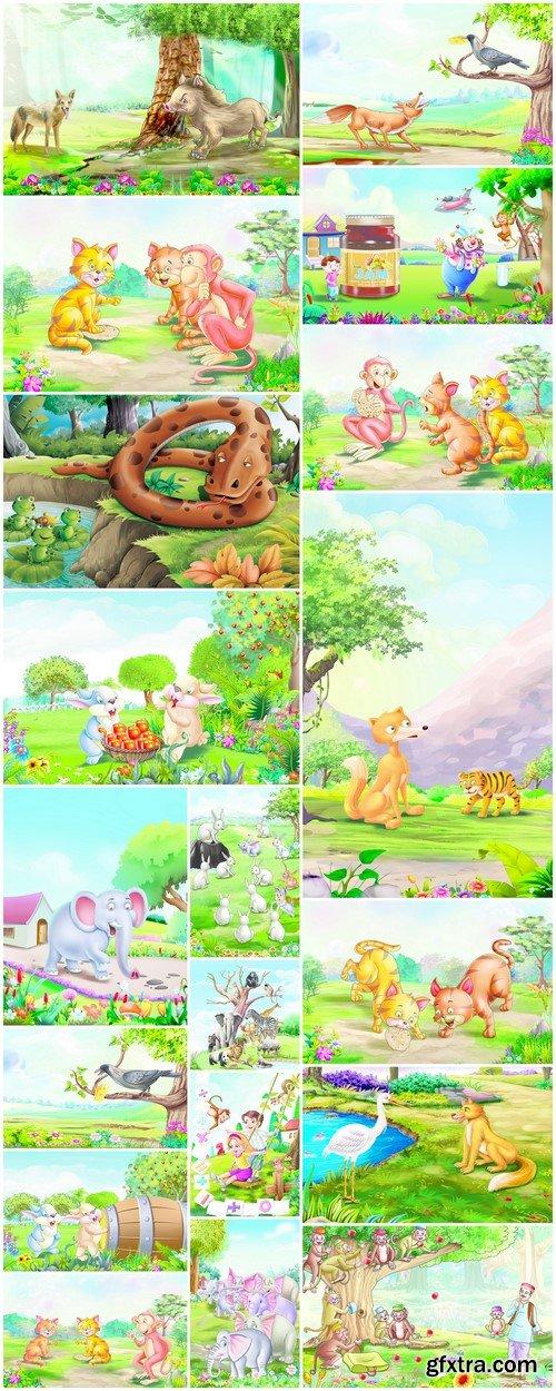 Animals, cartoon characters 19X JPEG