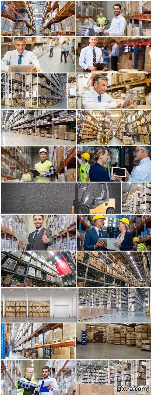 Huge distribution warehouse with high shelves 22X JPEG