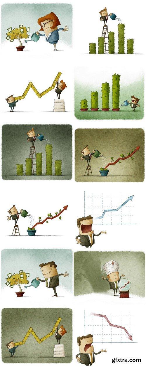 Economic growth concept 12X JPEG